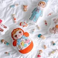[Fabric] 바이민 6탄! 빈티지돌 인형 컷트지 코튼(미니컷트지)