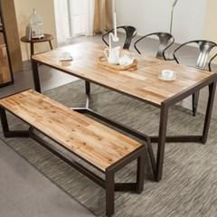 아이언브릿지 M 6인용 식탁세트 (벤치/의자 포함)