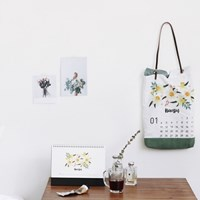 [Deco] 2016 Desk Calendar_flower bouquet (2016달력)