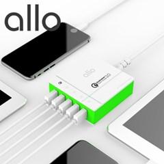 알로 퀵차지 3.0 고속 멀티충전기 UC401QC30 핸드폰 급속충전