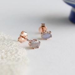래브라도라이트 러브 귀걸이 labradolite love earring