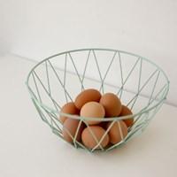 Wire round basket - Mint