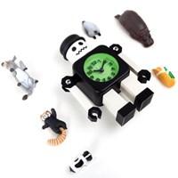 무소음 양철로봇 알람시계 -옵션선택