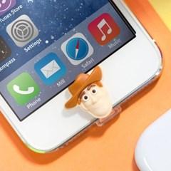 디즈니 라이트닝캡 우디 아이폰5-6 홈버튼