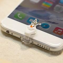 디즈니 라이트닝캡 올라프 아이폰5-6 홈버튼