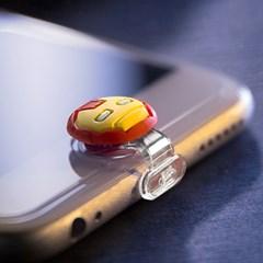 마블 라이트닝캡 아이언맨 아이폰5-6 홈버튼