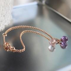 브라이트 자수정 볼 팔찌(2월탄생석)bright amethyst ball bracelet