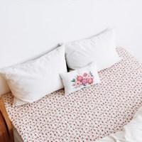 [Fabric] 2.5사각퀼팅_수줍은듯 붉게 물든 카멜리아 Quilting