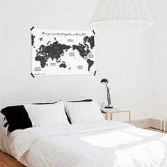 인테리어 세계지도  THIS IS WORLD MAP _ BLACK
