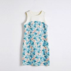 [sweet180]FLOWER FITTED DRESS