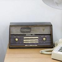 내츄럴 빈티지 장식 소품-라디오
