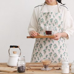 [Apron] 디자인 에이프런_Palm forest of Dreamland linen