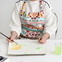 [Apron] 디자인 에이프런_Aztec Patch Bonnie Linen
