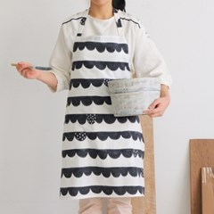 [Apron] 디자인 에이프런_Stamp calm waves cotton