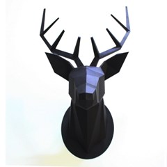 IDDA Paper Hunting Trophy-Deer Head(Black)