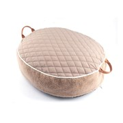 [blackmayonnaise] Quilted Round Cushion_Beige