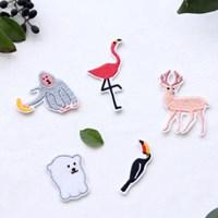 [Deco] The Zoo 접착식 미니 동물 와펜_flamingo