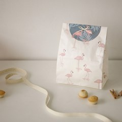 Fabric sticker - 99 Charming : flamingo