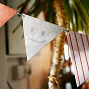 레터프레스 커스텀 이니셜 가랜드-삼각형(세모)