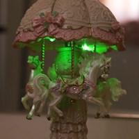 플라워 회전목마 LED 오르골