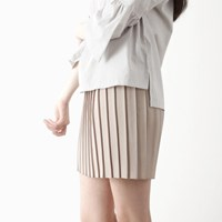 banding pleats skirt