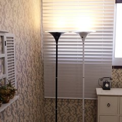 [LAMPDA] LED 오로라 거실용 장스탠드 (블랙)