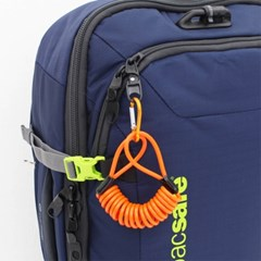 [TCUBE] 여행용 안전 코일 케이블 + 컬러비너 - 1.5M
