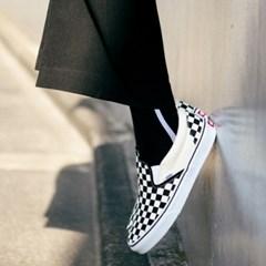UNISEX Side Line Socks aaa052u(Black / White)