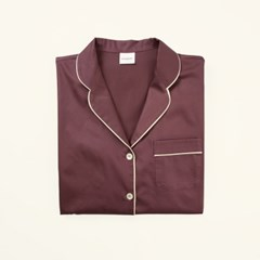 [closingment] pure cotton women's pajama set Marsala