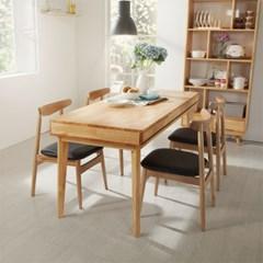 마루이 로비니아 러버트리원목 서랍형 식탁/책상(의자별도)