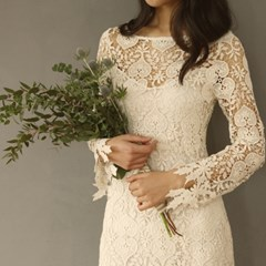 [CLAIR DE LUNE]  LOVE LACE DRESS