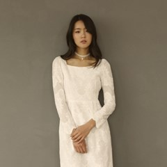 [CLAIR DE LUNE] COTTON LACE DRESS