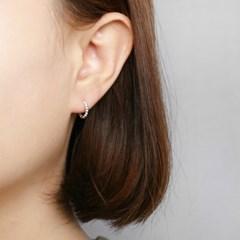 [925 실버]버블도트 원터치 귀걸이=ER268