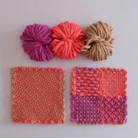 Pink&beige yarn (3 colors)