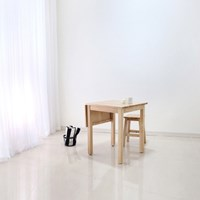 [벤트리] 원목 슬라이딩 테이블 소