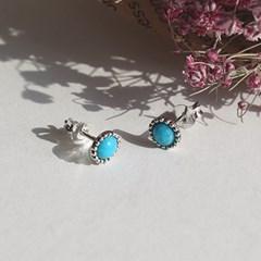 터키석 콩알 귀걸이(12월탄생석)turquoise bean earring