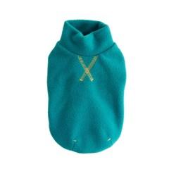 Polo neck Fleece top - Emerald