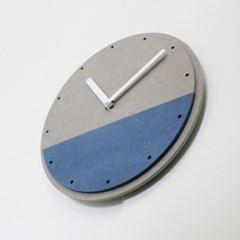 북유럽 스타일 무소음 벽시계(블루)