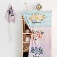 [Fabric] Flower Bouquet Valance 3in1 illust cut linen