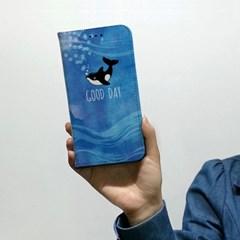 [플립다이어리] 고래이야기/문구제작서비스(For 애플/삼성)