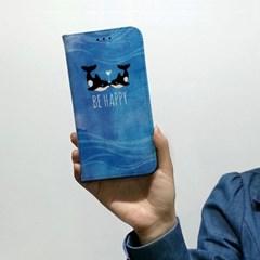 [플립다이어리] 고래 두마리 이야기/문구제작서비스(For 애플/삼성)