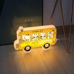 [LAMPDA] 뉴 프랭키 캐릭터 LED 스쿨버스 벽등