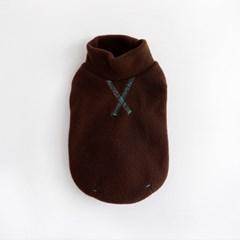 Polo neck Fleece top - Brown