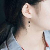스퀘어 오닉스 귀걸이 : chandelier E