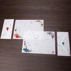 [완제품] 압화 편지지 예단 봉채 봉투 서식
