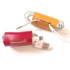[이탈리아베지터블가죽]2016 이어폰, USB 케이블홀더(그린)