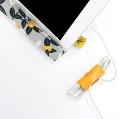 [이탈리아베지터블가죽]2016 이어폰, USB 케이블홀더(와인)