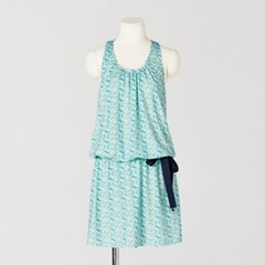 [sweet180] E-BAND & RIBBON BANANA DRESS (2colors)