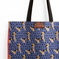 Pattern eco bag - Puppy Blue