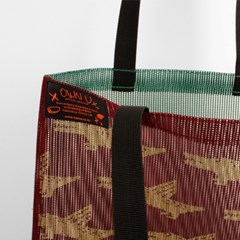 Pattern mesh bag - Alligator wine